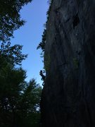 Rock Climbing Photo: One of the sweet 10's on the cliff