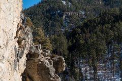 Rock Climbing Photo: All Strikes. No Balls. Botany Bay. Spearfish Canyo...