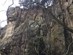 Rock Climbing Photo: West wall of the Amphitheater