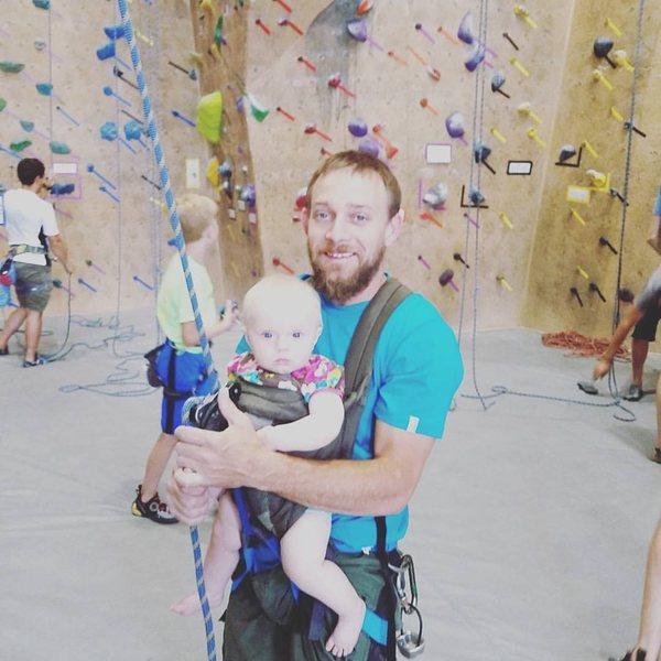 Crag baby at work