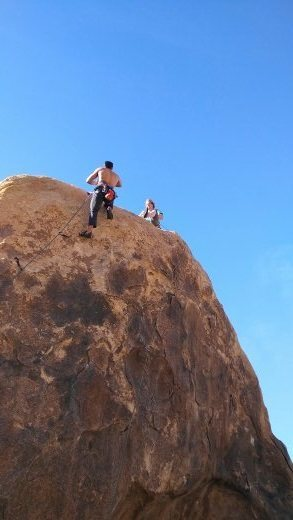 Rock Climbing Photo: My buds climbing at Horseman Center in the Cemeter...