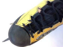 Rock Climbing Photo: Scarpa Fruit Boots - Hole in liner
