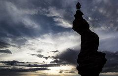 Rock Climbing Photo: at sunset