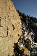 Rock Climbing Photo: The Scientist, Boulder Canyon.