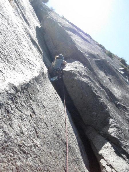 Rock Climbing Photo: Matt on Crack n Up