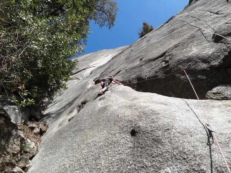 Rock Climbing Photo: Larry Z on lead