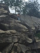 Rock Climbing Photo: First lead outdoor!