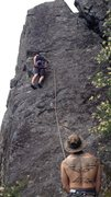 Rock Climbing Photo: Winter block sits higher on the mountain, and can ...