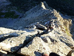 Rock Climbing Photo: Terrain up to the notch.