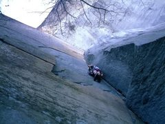 Rock Climbing Photo: Attempting aiding on Invisible Airwaves at Looking...