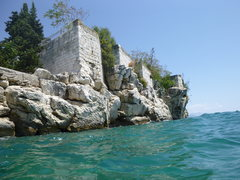 Rock Climbing Photo: Photo from the beach area on the swim out to the D...