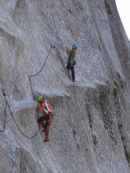 Rock Climbing Photo: Dan working the moves