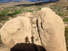 View of opposite boulders from atop Turtle Piss.