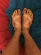 Rock Climbing Photo: Dirty feet