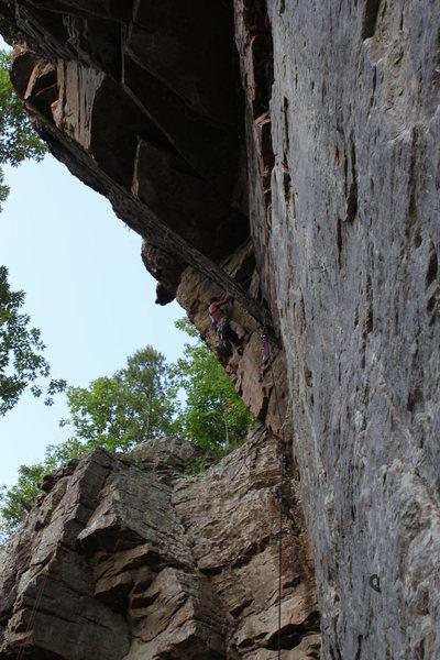 Climber Anthony Johnson on Palpitation.