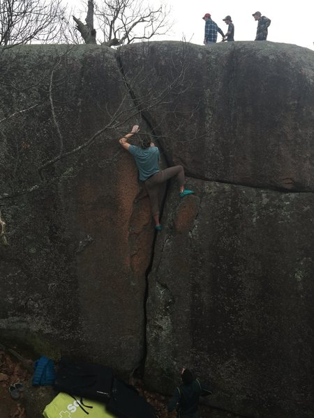 """Rock Climbing Photo: This crack is also called """"head games"""" i..."""