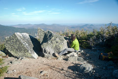 Rock Climbing Photo: Pebble wrastlin on Mt Washington, NH. hahahaha