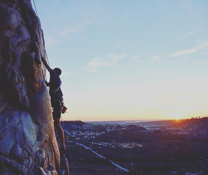 Rock Climbing Photo: Great sunsets at the gorge