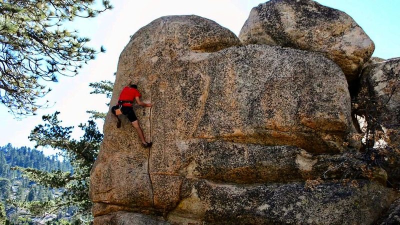 Rock Climbing Photo: Top rope attempt of Pressure Drop