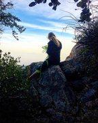 Rock Climbing Photo: Enjoying the sunset from the Cliff Hanger