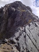 Rock Climbing Photo: Looking up at Talbot's Ladder, from Homer Sadd...