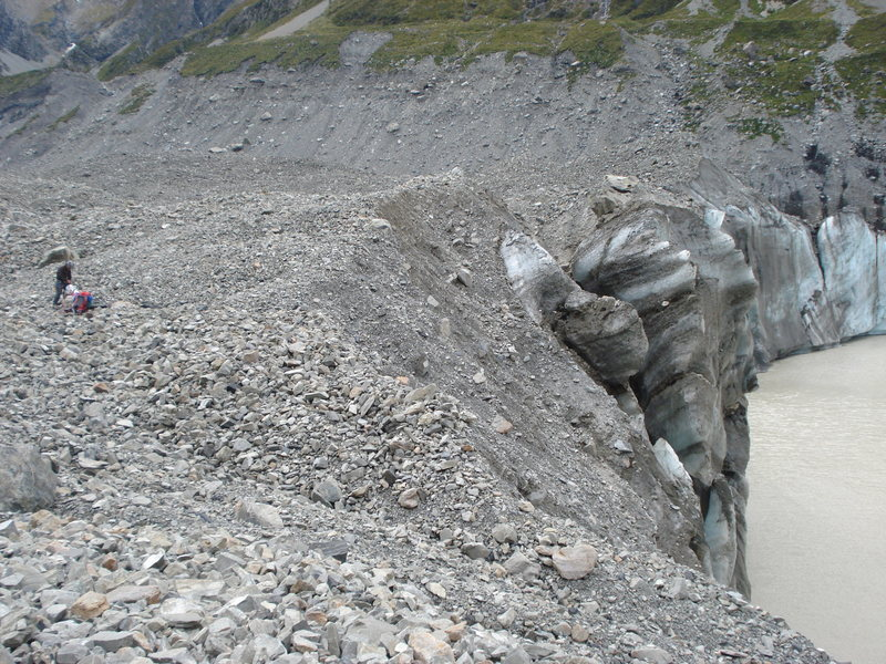 Rock Climbing Photo: Terminus of the glacier
