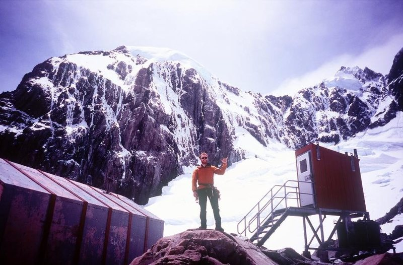 View of Empress Hut and South Face of Mount Hicks