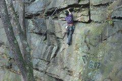 Rock Climbing Photo: mock lead