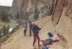 Rock Climbing Photo: Good times- Tim Wilhelmi belaying Rich Ludwig- Mar...