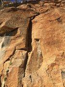 Rock Climbing Photo: Start of the climb.