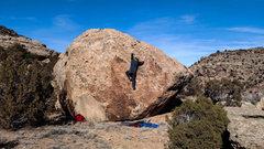 Rock Climbing Photo: Arien S. reaching through the mid-section of Sun S...