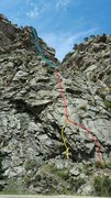 Rock Climbing Photo: The Art of The Deal, a new 4 pitch 400' trad l...