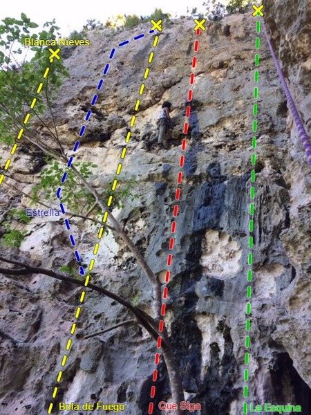 Blanca Wall at Caliche Crag.