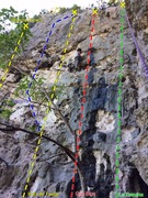 Rock Climbing Photo: Blanca Wall at Caliche Crag.