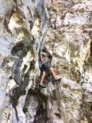 Rock Climbing Photo: El Puro starting up the chimney of La Otra Esquina
