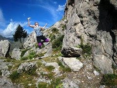 Rock Climbing Photo: At Contrefort de Roche Robert:  Patty Black discov...