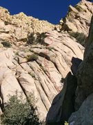 Rock Climbing Photo: Topo of the False Rib route (first ~5-10 feet and ...
