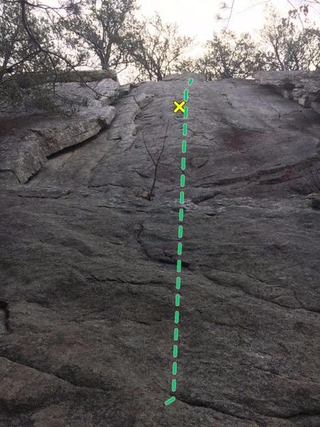 Rock Climbing Photo: Long way to the first bolt
