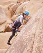 Rock Climbing Photo: Kim leading Mr. Maxle