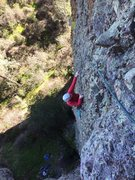 Rock Climbing Photo: HBagshaw coming up P1