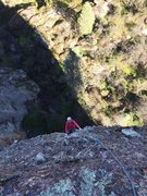 Rock Climbing Photo: HBagshaw coming up P2