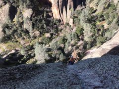 Rock Climbing Photo: Geoff coming up P3