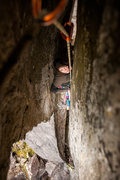 """Rock Climbing Photo: Sierra feeling constricted in """"Offwidth A Ban..."""
