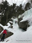 Rock Climbing Photo: Leprechaun's Lement Gully. With Ken Domino on ...