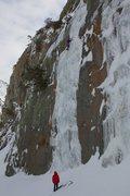 Rock Climbing Photo: Luke Lydiard leading Zippo's Frozen Booger in ...