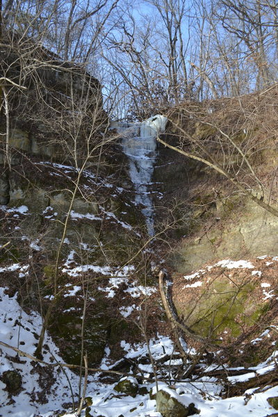 Rock Climbing Photo: picture taken 1/15/17.  Not quite formed all the w...
