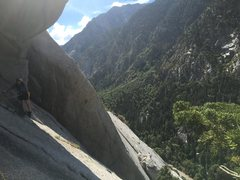 Rock Climbing Photo: Pitch 4 traverse