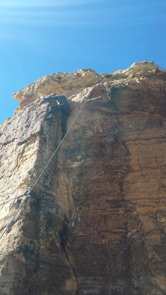 Rock Climbing Photo: Jake climbing Corner Arete.