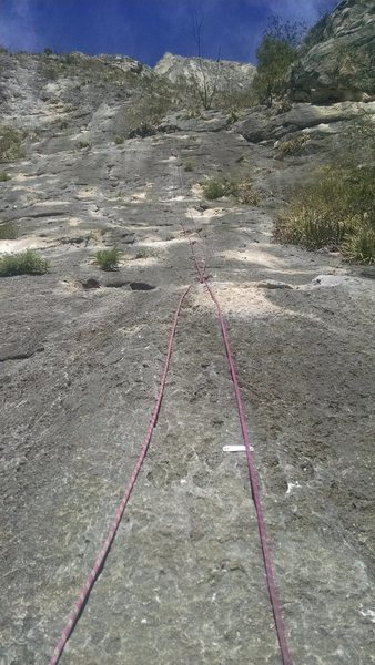 Rock Climbing Photo: After the lead...