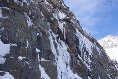 Rock Climbing Photo: Luke Lydiard nearing the top of Lando Calrissian.